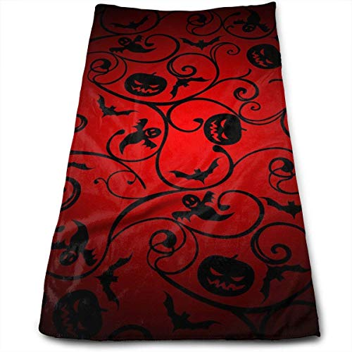 Bath Towels Halloween Pattern Wallpaper Background Face Towels Highly Absorbent Washcloths Multipurpose Towels for Hand Face Gym and Spa 30cm*70cm