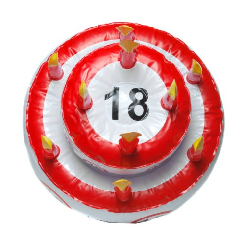 Aufblasbare geburtstagstorte 18 my event world - 18 geburtstag planen ...