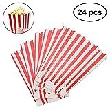 TOYMYTOY Popcorn Boxen Rot und Weiß Gestreift Party Kino Geburtstage Hochzeit 24 stücke