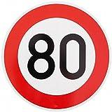 ORIGINAL VERKEHRSSCHILD 80 KM/H Schild DN 60 cm Nr. 274-58 zum Geburtstag als Geburtstagsgeschenk...
