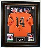 www.signedmemorabiliashop.co.uk Rare Johan Cruyff dell' Olanda Firmato Camicia