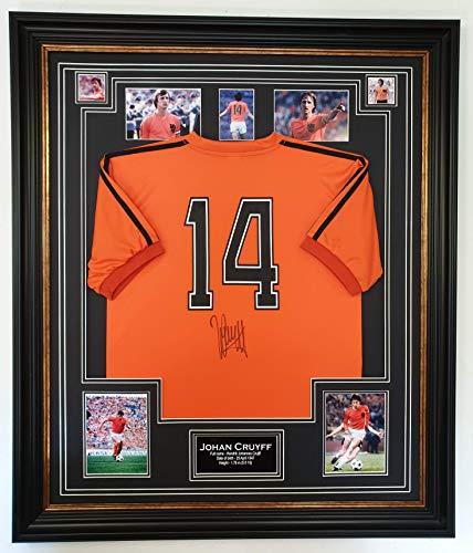 www.signedmemorabiliashop.co.uk Seltenen Johan Cruyff von Holland Unterzeichnet Shirt