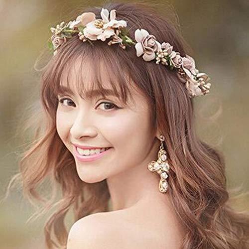 Billige Mittelalterliche Kleider - Surenhap Blumenkranz Haare und Arm, Haarschmuck