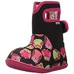 Kids Girls Baby Bog Owls Black Multi Neoprene Waterproof Boots Wellies SIZE 7