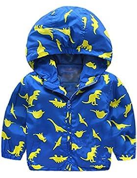 Niños pequeños Chaqueta Dinosaurio Boy Abrigo con Capucha