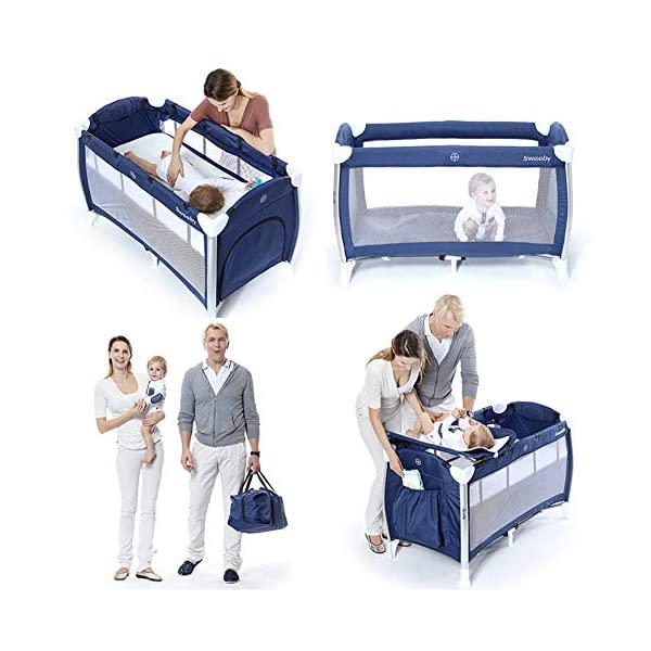 KLI Portable Folding Newborn Baby Crib Crib Baby Toddler Cotton Music Game Kindergarten Travel Bed Baby Supplies, 125X65x77cm KLI 1.Shipping list: crib, coir mattress, shelf, second floor bed, diaper table, folding mattress, rotating music stand, arched toy frame, travel storage bag arched mosquito net, diaper pad . size: 125x65x77cm. 2. Application age: 0-4 years old. 3. Weight duration: 50 kg. 4