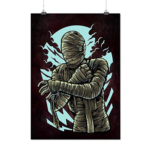 Mumie Zombie Tot Horror Mattes/Glänzende Plakat A3 (42cm x 30cm)   Wellcoda