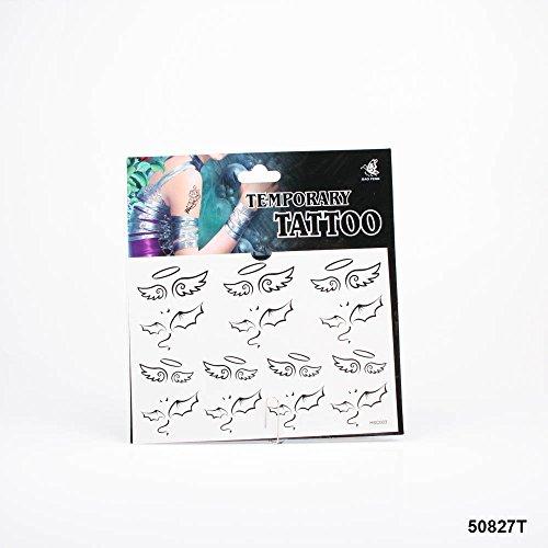*Tattoos Teufels- und Engelsflügel mit Hörner und Heiligenschein 01-00077 (Engelsflügel Heiligenschein Und)