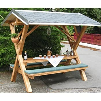picknicktisch bierbank 150 cm picknickbank bank tisch mit r ckenlehne. Black Bedroom Furniture Sets. Home Design Ideas