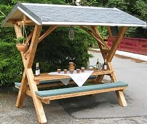 Amazon De Mumba Partyfreisitz Aus Holz Partyhutte Waldschanke Made