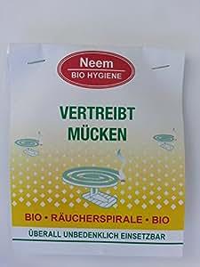 Niem | Bio | Räucherspirale | 4 x 2 Spiralen | 8 Stück | Insektenabwehr | Mückenschutz | Neem