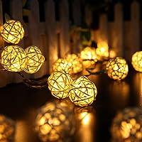 Kingko 3,1 M 30er Rattan LED Lichterkette Innen Deko LED Lichterkette Warmweiss als strombetriebene Lichterkette... preisvergleich bei billige-tabletten.eu