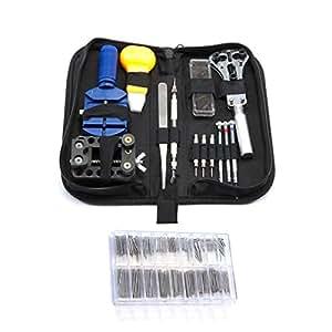 kit portable de 300 outils r p artion montre r duction de taille de bracelet changement de pile. Black Bedroom Furniture Sets. Home Design Ideas