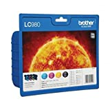Brother- BROTHER SET OF 4 LC980 Original Ink Cartridges LC-980 Genuine DCP MFC - Brother - amazon.co.uk