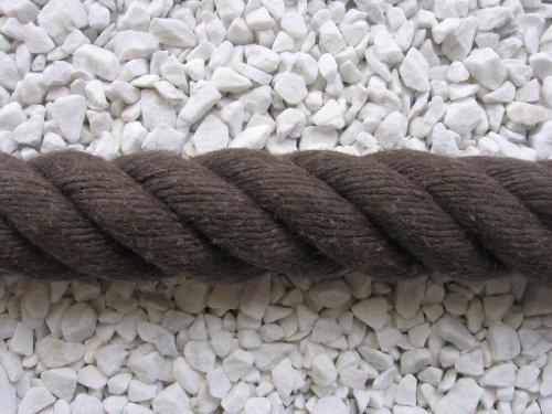 Handlaufseil Absperrseil Handlauf Seil 40mm Fb. braun