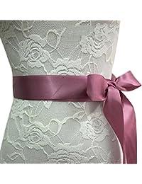 Juleya Satin Ribbon Bridal Belts Party Bride Dama de honor vestido de la correa del pretina