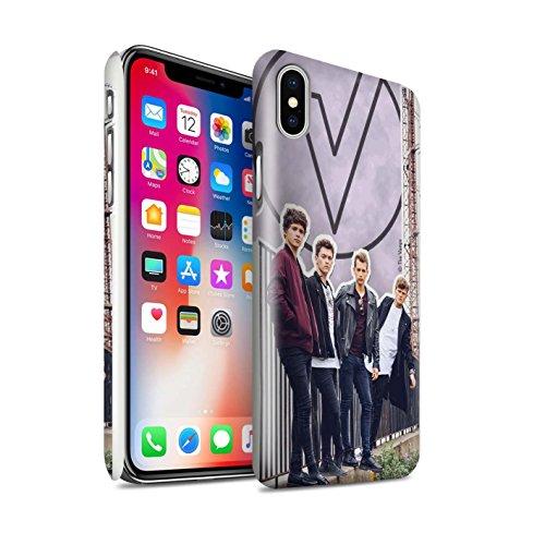 Offiziell The Vamps Hülle / Glanz Snap-On Case für Apple iPhone X/10 / Rot Stift Muster / The Vamps Doodle Buch Kollektion Ausgeschnitten