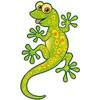 Autoaufkleber Sticker Lizard Eidechse Gecko grün Aufkleber