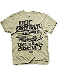 Officiellement Sous Licence Doc Brown Time Travel Agency Hommes T-Shirt (Khaki)