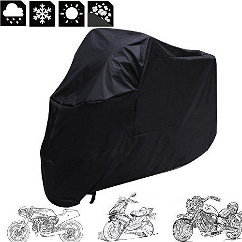 Housse-de-Protection-Moto-Bche-Couverture-Cover-Etanche-Impermable-Anti-UV-Rsistant--PluieNeigePoussireScratchRayon-UVNoir