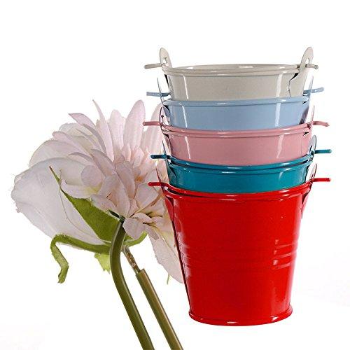 Mini-Metaal-emmer-Candy voorkeuren Box pail bruiloft cadeaus (Hochzeits-kuchen-bevorzugung Boxes)