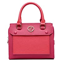 Zeneve London Victoria Satchel Bag for Women - Pink