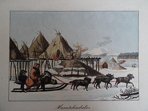 Kamtchadales. Kolor. Lithographie, um 1850. 13 x 19 cm.
