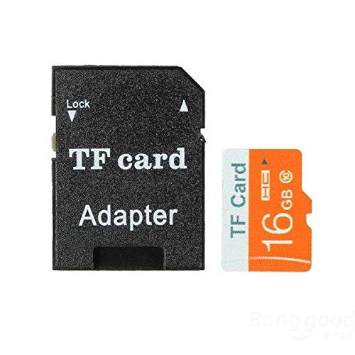 mark8shop 16GB Micro SD TF Secure Digital High Speed Flash-Speicherkarte Class10mit Adapter -