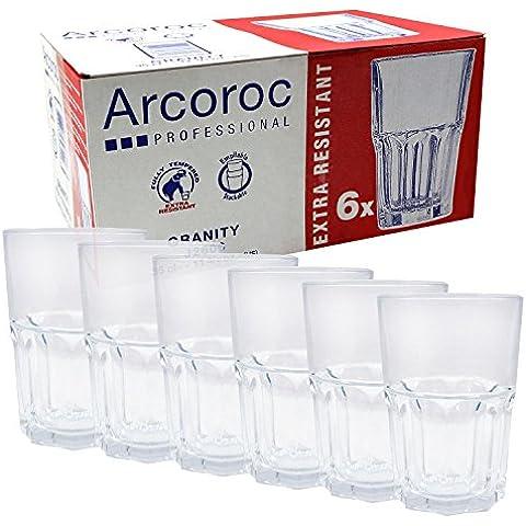 Arcoroc Granity vetro Serie, Vetro, Longdrinkgläser