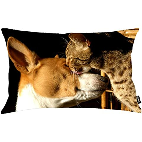 i FaMuRay Cat Cuddling With A Dog Federe DIY Bedding Federe Queen Size 20