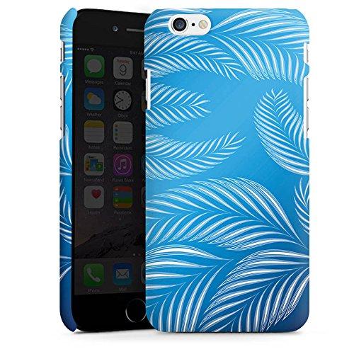 Apple iPhone X Silikon Hülle Case Schutzhülle Palmen Blätter Blau Premium Case matt