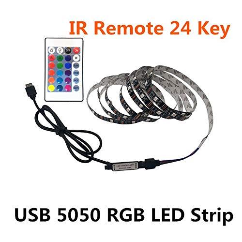 SEXTT LED-Lichtstreifen, 5V-Licht mit Niederspannungs-Ladeschatz TV-Hintergrundlicht USB Bunter wasserdichter weicher Lichtstreifen,3m