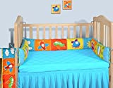Swayam Kids N More Digitally Printed Mercerised Cotton Standard Cot Bumper - Multicolor