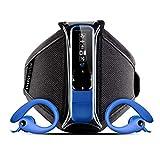 Energy Sistem Active 2 - Reproductor MP3 con auriculares deportivos (4 GB, radio FM, brazalete), azul neón