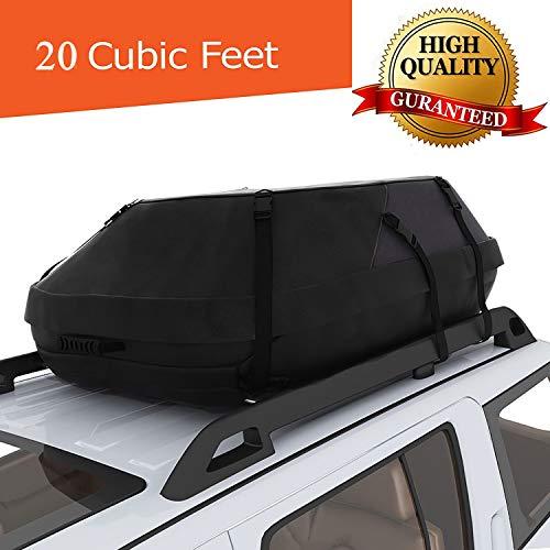 Bunao Dachbox für Auto Faltbare Dachkoffer Wasserdicht Dachtasche Dachgepäckträger-Tasche 15/20 Kubikfuß Aufbewahrungsbox Ideal für Reisen und Gepäcktransport (20 kubikfuß)
