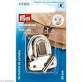 Prym Steckschloss - 26x35mm, silber