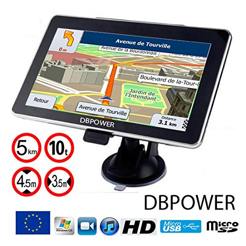 comparamus navigateur dbpower 772 gps 7 pouces eu 2017 poids lourds camion version hd. Black Bedroom Furniture Sets. Home Design Ideas