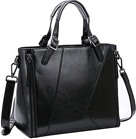 Iswee Women's Handbags Celebrity Style Tote Bag Leather Shoulder Bag for Women
