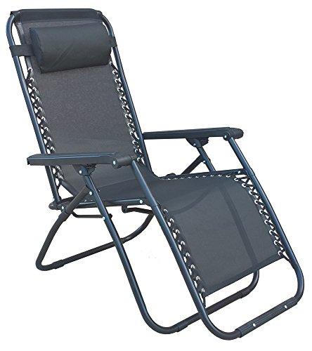 Dimaplast2000 relax greek sdraio reclinabile pieghevole, grigio, 90x66x110 cm