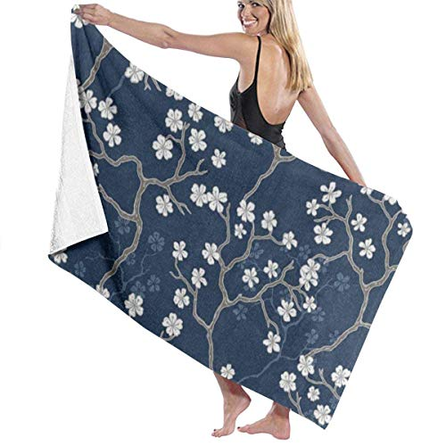 xcvgcxcvasda Serviette de bain, Cherry Blossom Sakura Personalized Custom Women Men Quick Dry Lightweight Beach & Bath Blanket Great for Beach Trips, Pool, Swimming and Camping 31