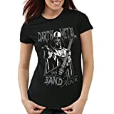 style3 Darth Metal Band T-Shirt da Donna, Colore:Nero, Dimensione:M