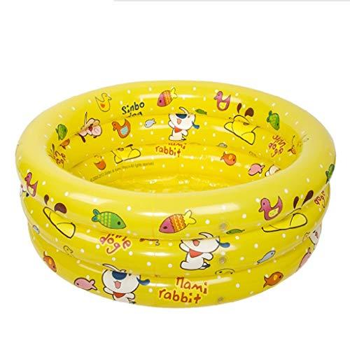 FEI Badewanne Tricyclic Infinity Pool Schwimmbad Baby-Schwimmbad Baby-Badewanne 100Cm Wanne,Gelb (Infinity-teppich)
