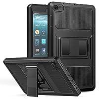 MoKo Nuevo Amazon Fire 7 2017 Funda ( 7 pulgadas, 7ª generación) - Shockproof Híbrido Resistente Smart Cover Case Para Choque con Protector de la Pantalla Incorporado para All-New Fire 7 Tablet, Negro