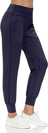 scicent Jogginghose Damen 7/8 High Waist Joggpants mit Gummizug 34 36 38 40 42 44