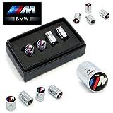 BMW M Sport Deluxe Logo Rad Reifen Ventil Staubkappen in Geschenkbox (schwarz)