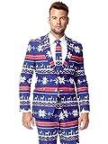 Rudolph - Weihnachtsanzug, blau, weiß