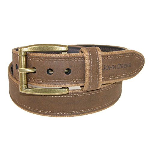 john-deere-mens-canvas-with-crazy-horse-leather-belt-36-brown