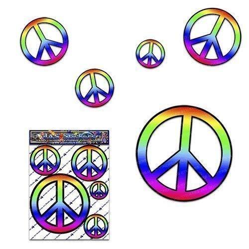 Friedenszeichen-Abziehbild Aufkleber-Satz für Auto-LKW-Wohnwagen - ST00022_SML - JAS Aufkleber (Friedenszeichen-autoaufkleber)