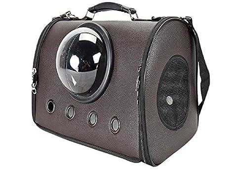 Haustier Draussen Handtasche Hohe Kapazität Tragbar Dauerhaft Mode Hund Raumkapsel Reisetasche Zum Hunde 2 Farben (Schokolade)