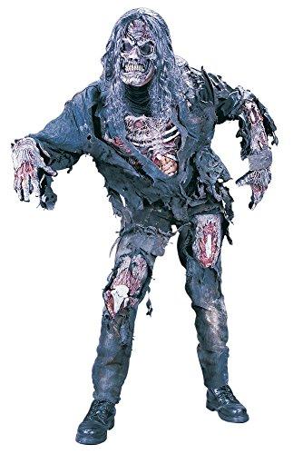 Skelett Zombie Erwachsene Kostüme Für (Zombie Deluxe 3D Kostüm)